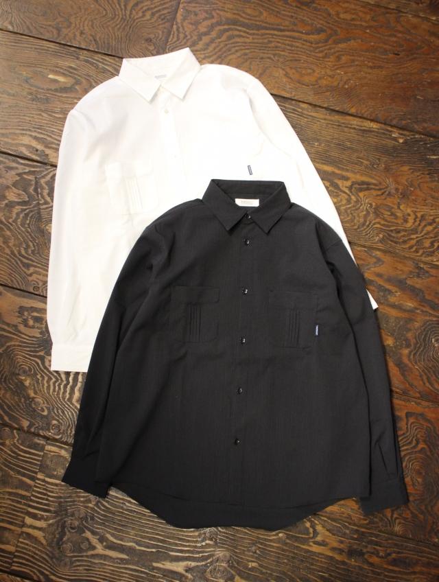 RADIALL  「HUNTINGTON - REGULAR COLLARED SHIRT L/S」  レギュラーカラーシアサッカーシャツ