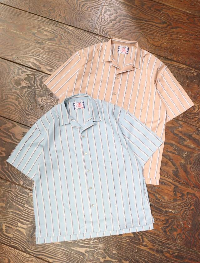 SON OF THE CHEESE  「 Stripe Op Shirt 」 ストライプオープンカラーシャツ