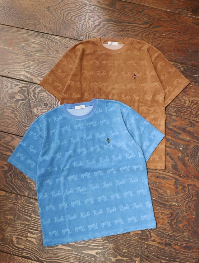 RADIALL  「APACHE - CREW NECK T-SHIRT S/S」  総柄パイルティーシャツ