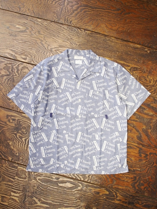 RADIALL × CHAOS FISHING CLUB  「BLUE HOURS - OPEN COLLARED SHIRT S/S」  オープンカラー シャンブレーシャツ