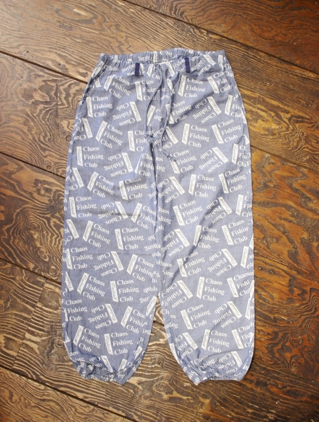 RADIALL × CHAOS FISHING CLUB  「BLUE HOURS - WIDE FIT EASY PANTS」   シャンブレーイージーパンツ