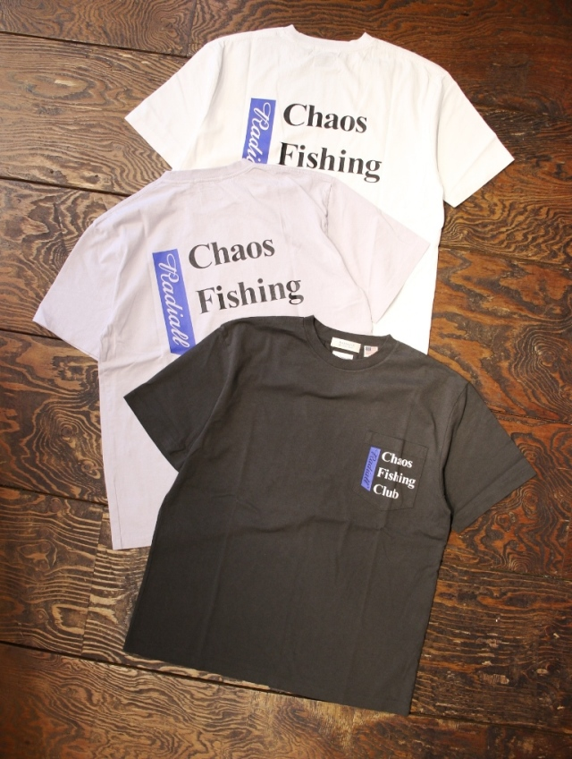 RADIALL × CHAOS FISHING CLUB  「BLUE HOURS - CREW NECK T-SHIRT S/S」  プリントティーシャツ