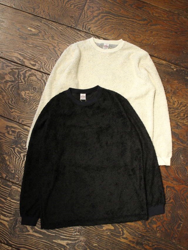 CUT RATE  「LOGO PILE L/S T-SHIRT」 パイルロンティー