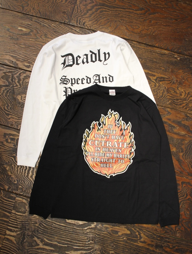 CUT RATE  「FLAME L/S T-SHIRT」 プリントロンティー