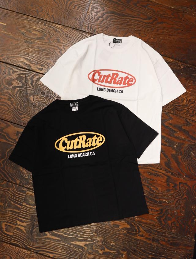 CUT RATE  「CUTRATE LOGO DROPSHOULDER S/S T-SHIRT」 ドロップショルダープリントティーシャツ