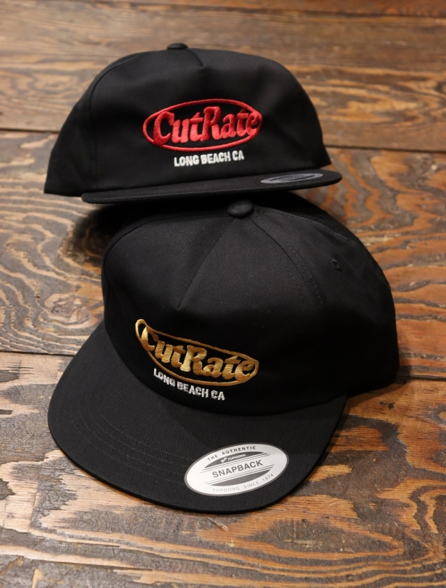 CUT RATE  「CUTRATE LOGO EMBROIDERY CAP」 スナップバックキャップ
