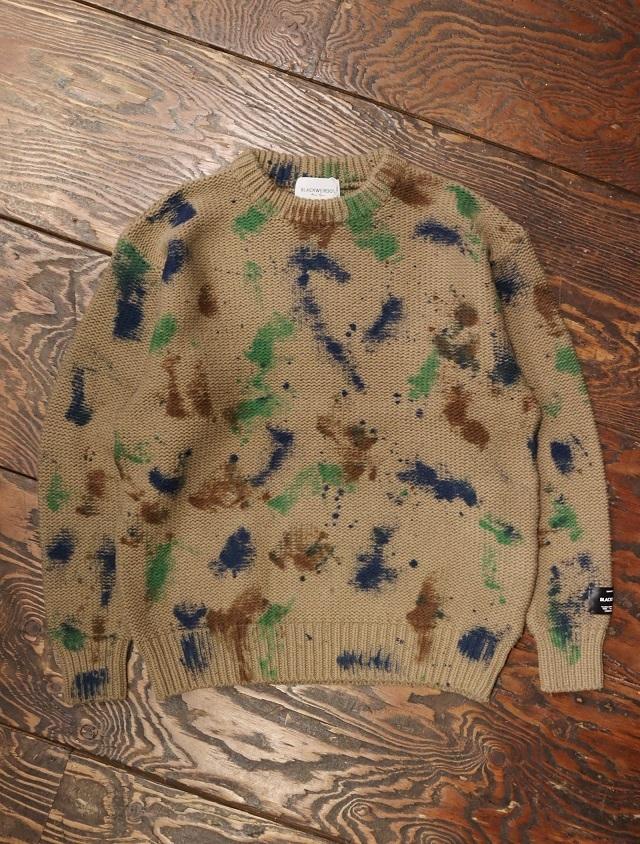 Black Weirdos  「TieDye Sweater」 タイダイ ニットセーター