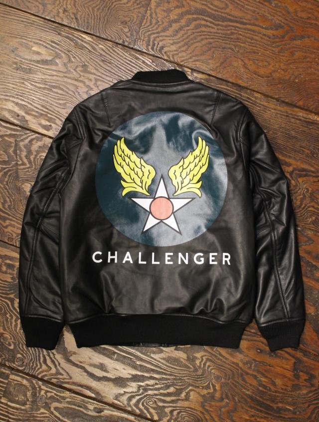 CHALLENGER   「LEATHER FLIGHT JACKET <PRINT> 」 シープレザーフライトジャケット