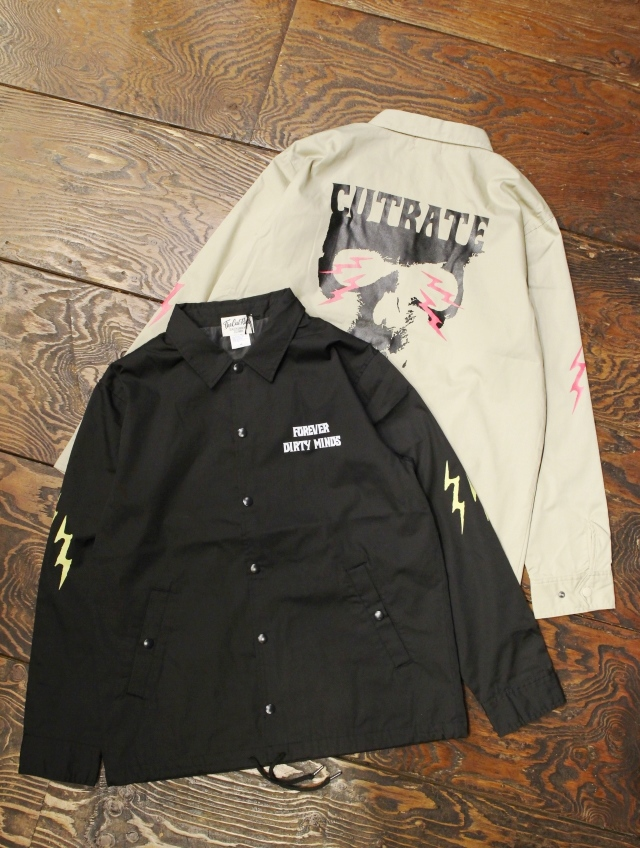 CUT RATE  「SKULL PRINT COACH JACKET」 T/Cツイル コーチジャケット