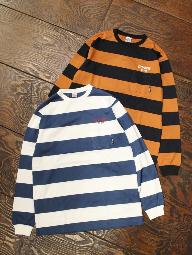 CUT RATE  「PRINT BORDER L/S T-SHIRT」  ボーダーロンティー