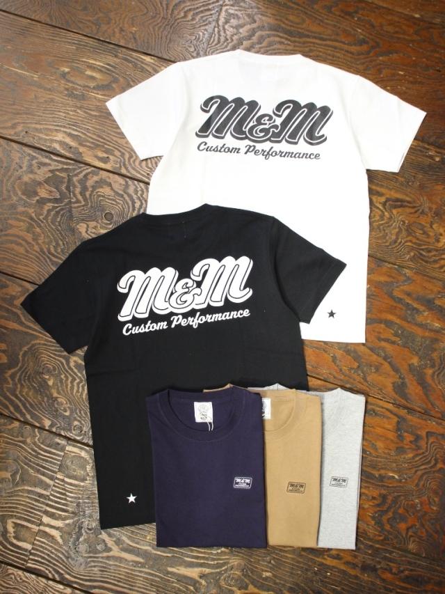 【 9月10日 発売!】 M&M CUSTOM PERFORMANCE   「 PRINT S/S T-SHIRT 」 プリントティーシャツ