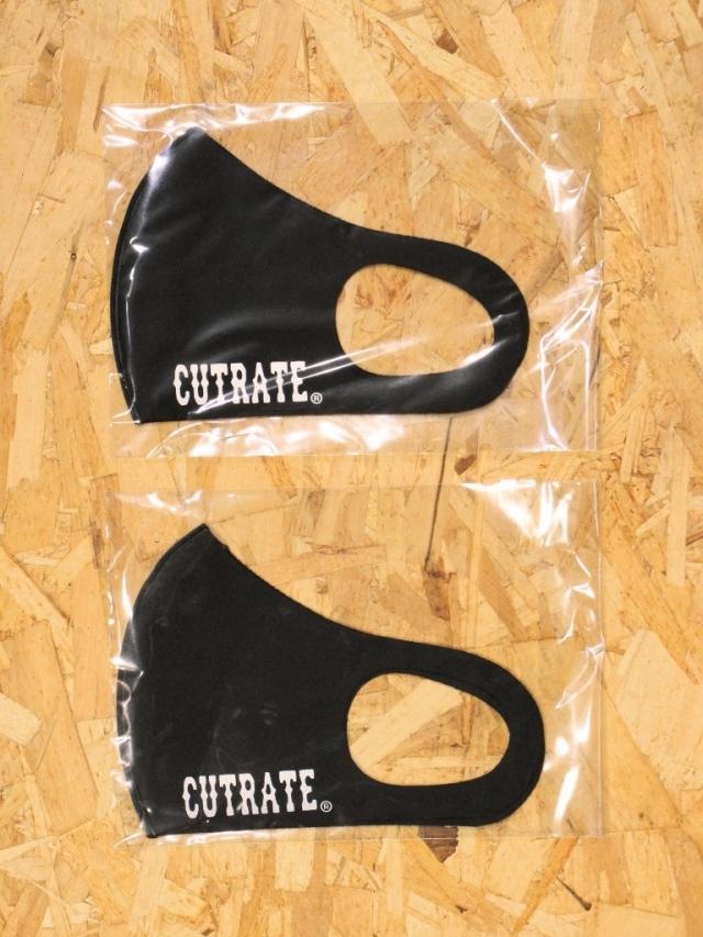 【再入荷!!】 CUT RATE  「LOGO MASK」 2枚セットマスク