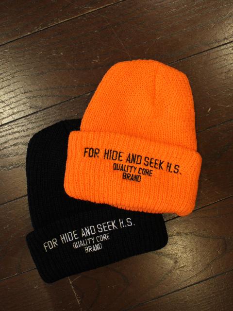 HIDEANDSEEK 「FOR H.S.Rib Knit CAP」 ニットキャップ