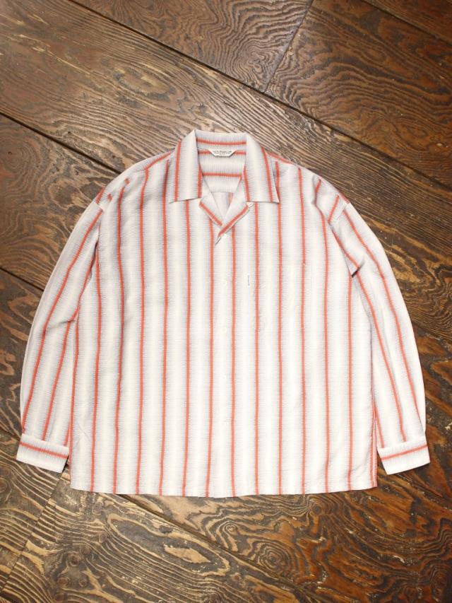 COOTIE  「 Snake Stripe Open-Neck L/S Shirt 」 オープンカラーストライプシャツ