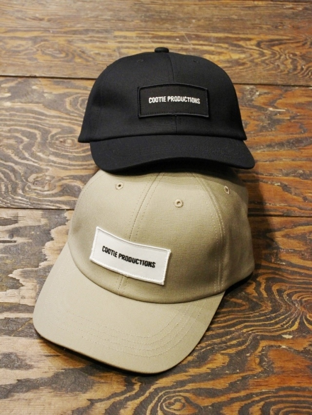 COOTIE   「Canvas 6 Panel Curved Brim Cap」  キャンバス 6パネルキャップ