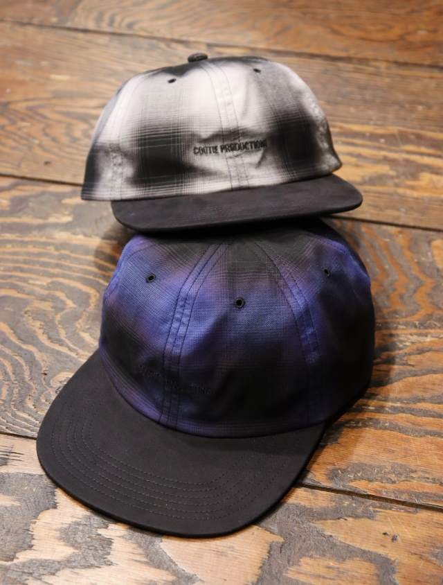 COOTIE  「 Ombre Check 6 Panel Cap 」  チェック柄 6パネルキャップ