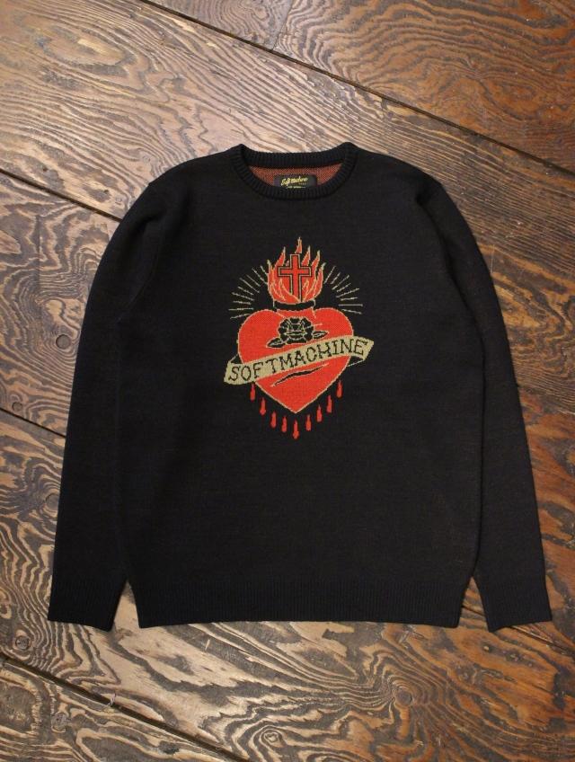 SOFTMACHINE  「SACRED SWEATER 」 ジャガードニットセーター