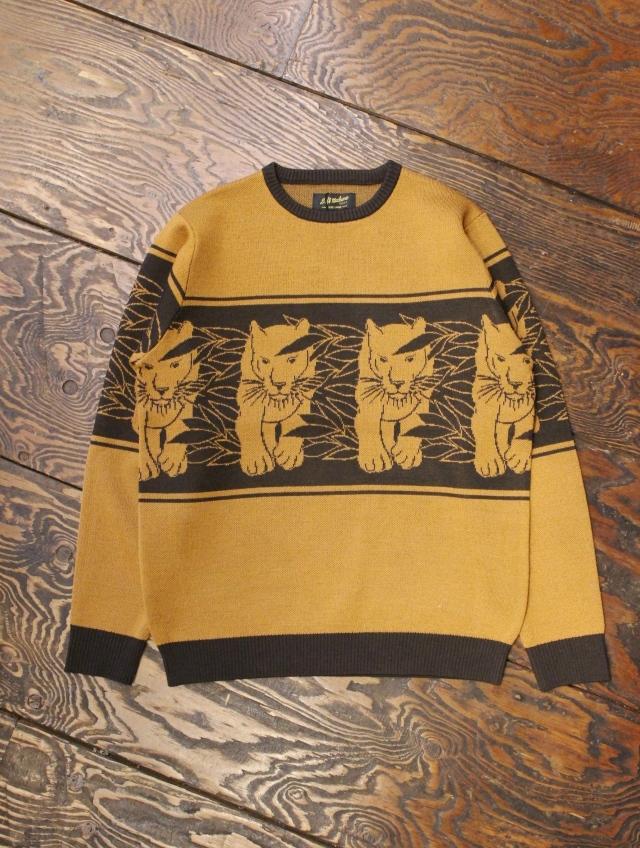 SOFTMACHINE  「PANTHER SWEATER 」 ジャガードニットセーター