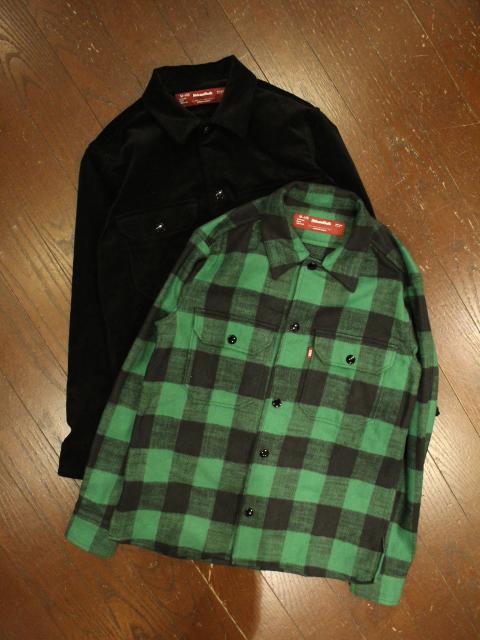 HIDEANDSEEK 「CPO L/S Shirt(Cord&Check)」 CPOシャツ