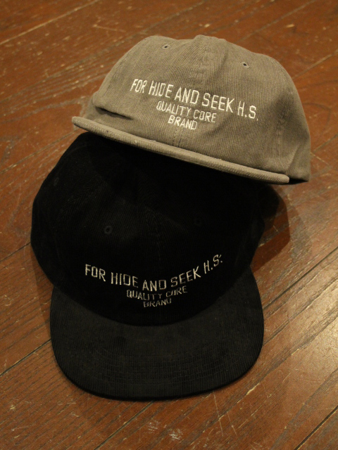HIDEANDSEEK 「FOR H.S. Cord CAP」 コーデュロイキャップ
