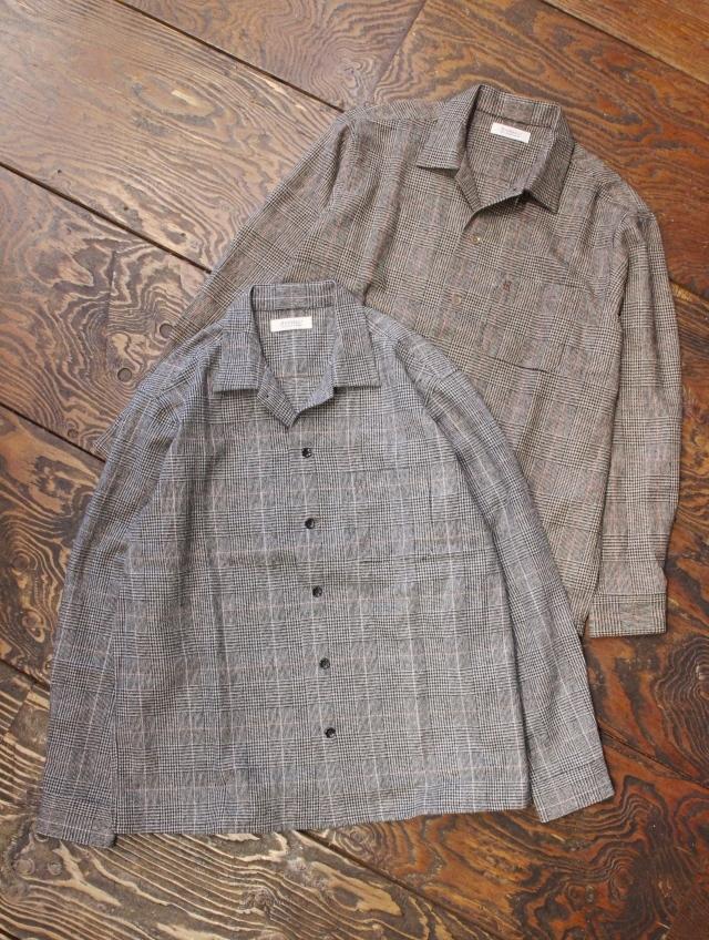 RADIALL  「MOS - OPEN COLLARED SHIRT L/S」  オープンカラーチェックシャツ