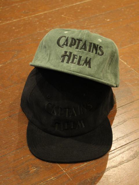 【NEW YEAR ITEM !!】 CAPTAINS HELM「#AUTHENTIC LOGO CORDUROY CAP」 コーデュロイキャップ