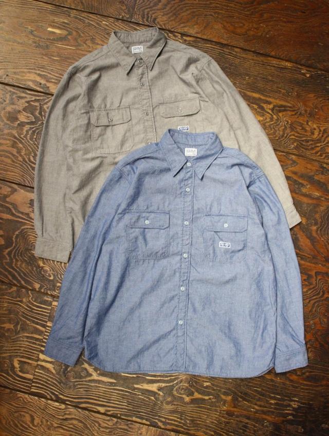 RADIALL  「T.N. WORK SHIRT L/S」  シャンブレーシャツ