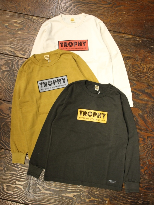 TROPHY CLOTHING  「Superior Logo OD L/S Tee」 プリントロンティー