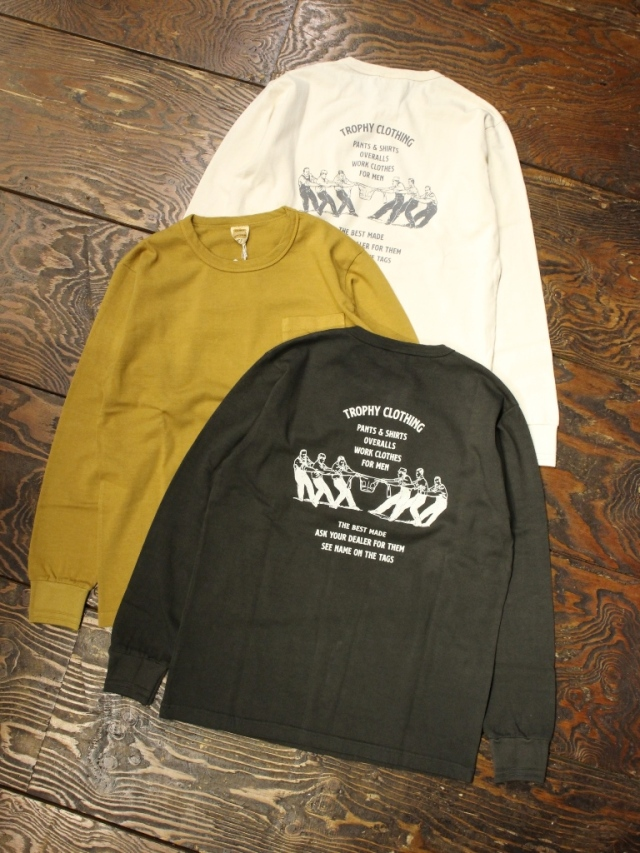 TROPHY CLOTHING  「Workers Logo OD PKT Tee」 プリントポケットロンティー