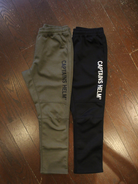 【NEW YEAR ITEM !!】 CAPTAINS HELM 「#TRADEDEMARK TEC LIGHT PANTS」 トラックパンツ
