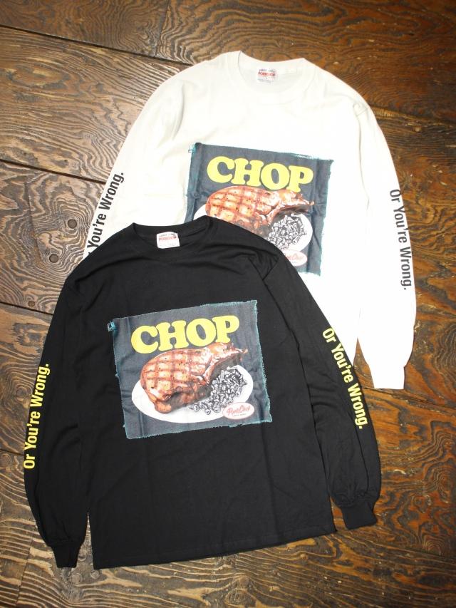 【 12月12日 12時~ 発売開始! 】  PORKCHOP GARAGE SUPPLY   「 CHOP TEE L/S TEE 」  ロングスリーブティーシャツ