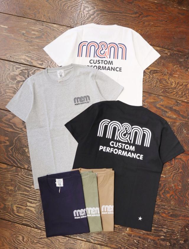 【 8月5日発売!】 M&M CUSTOM PERFORMANCE  「 PRINT S/S T-SHIRT 」 プリントティーシャツ