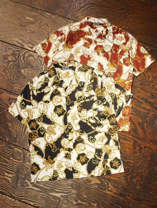 CUT RATE  「 ALLOVER PATTERN S/S SHIRT 」   オープンカラーシャツ