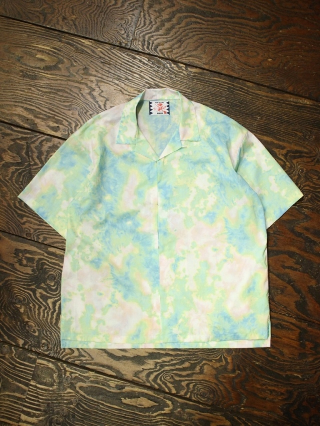 SON OF THE CHEESE  「DYE Hook Shirt」  オープンカラーシャツ