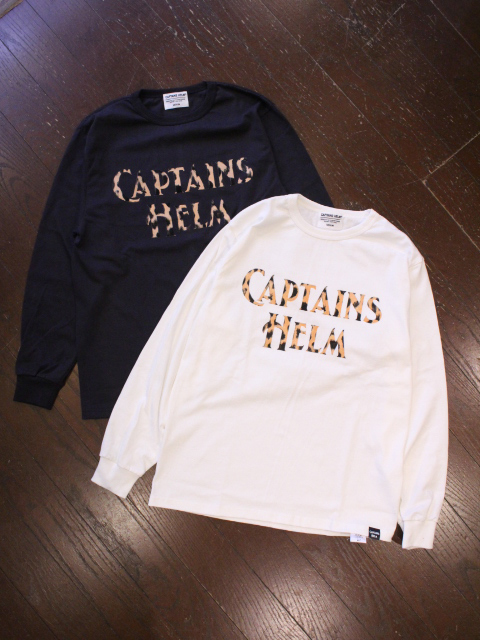 【NEW YEAR ITEM !!】 CAPTAINS HELM 「#LEOPARD LOGO LOGO L/S TEE」 ロングスリーブティーシャツ