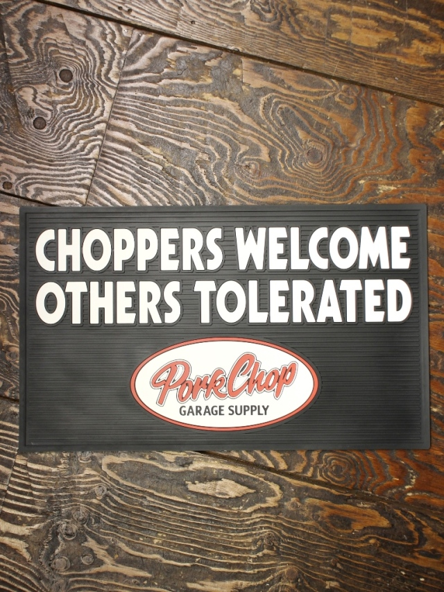 【 12月12日 12時~ 発売開始! 】 PORKCHOP GARAGE SUPPLY   「WELCOME RUBBER MAT」  ラバーマット