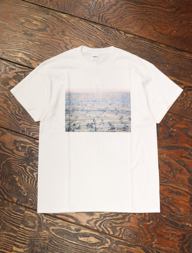 RADIALL  「BAKERS FIELD - CREW NECK T-SHIRT S/S 」  プリントティーシャツ