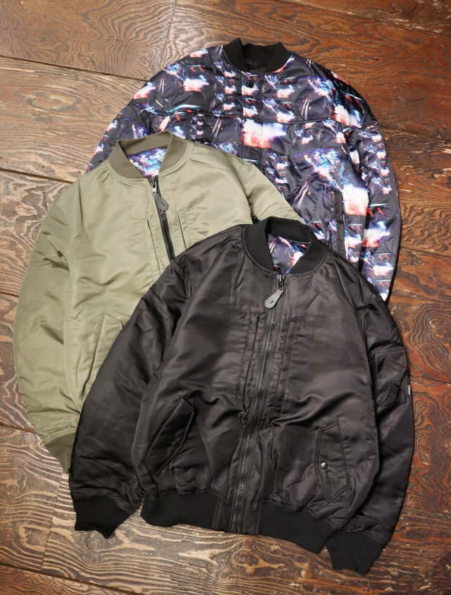 RADIALL  「LO-N-SLO - ZIP UP BLOUSON」  リバーシブルMA-1ジャケット