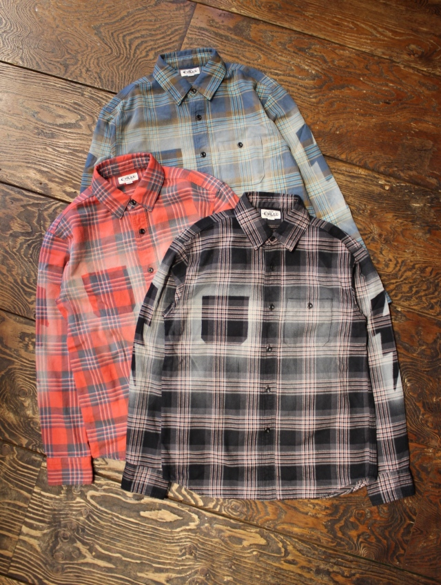 CALEE  「USED L/S CHECK SHIRT 」    USED加工チェックシャツ