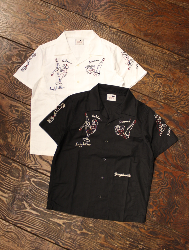 GANGSTERVILLE   「LADY KILLER - S/S SHIRTS」  オープンカラーシャツ