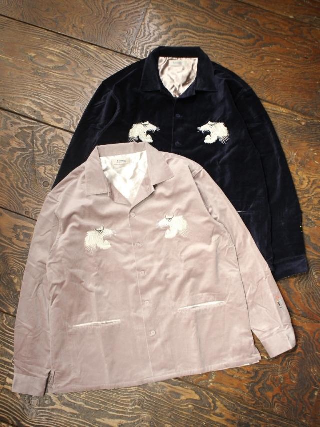 RADIALL  「SWEET EXORCIST - OPEN COLLARED SHIRT L/S」 オープンカラー ベロアシャツ