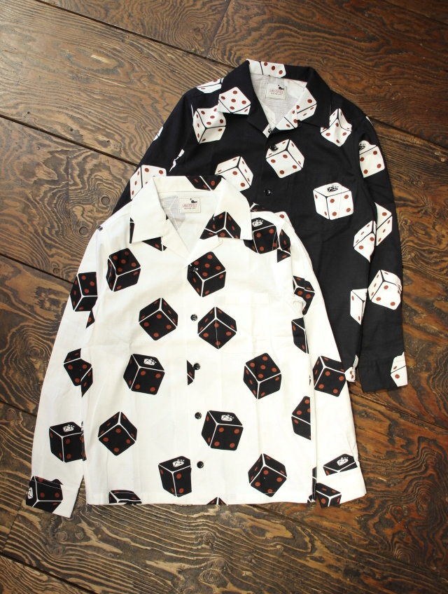 GANGSTERVILLE   「TUMBLING DICE - L/S SHIRTS」   オープンカラー シャツ