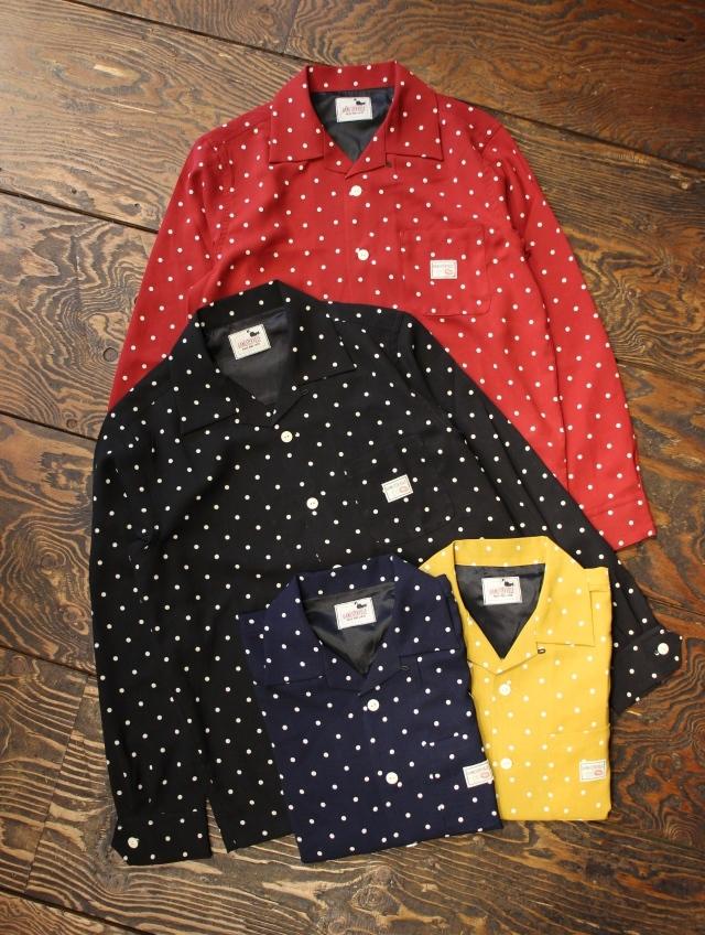 GANGSTERVILLE   「DIAMONDS - L/S SHIRTS」   オープンカラー シャツ