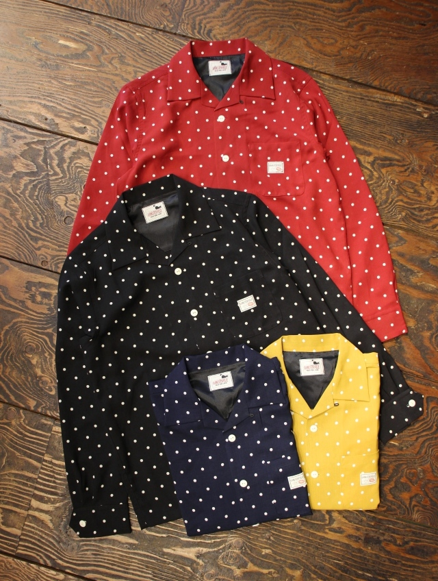 GANGSTERVILLE   「DIAMONDS - L/S SHIRTS」   オープンカラー シャツ