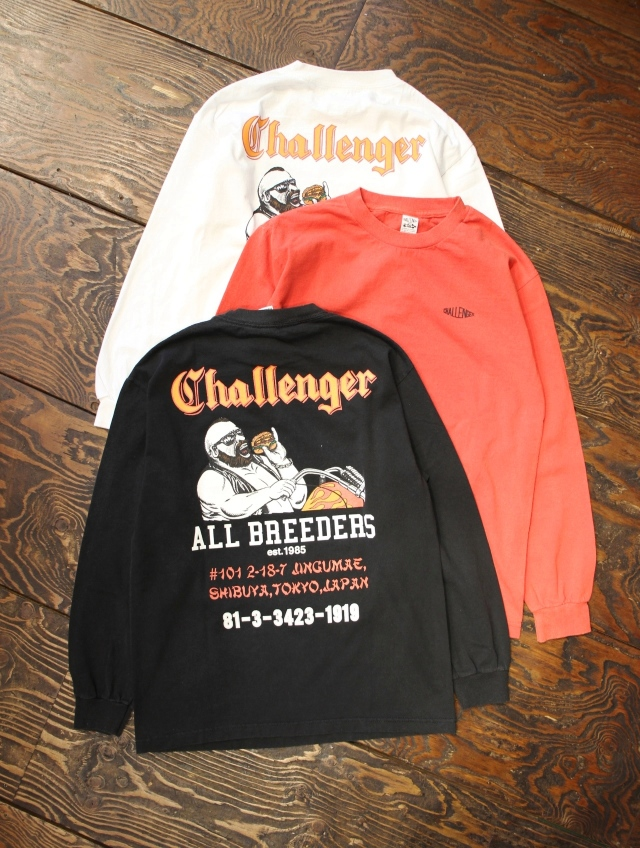 CHALLENGER   「L/S RIDE ON BURGER TEE」 プリントロンティー