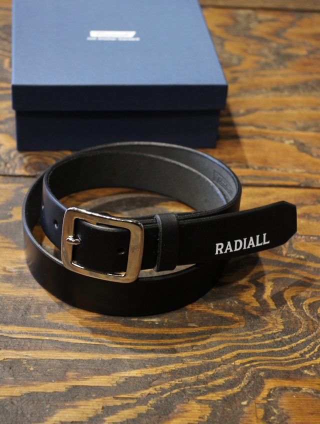 RADIALL    「PLAIN - NARROW BELT」  レザーベルト