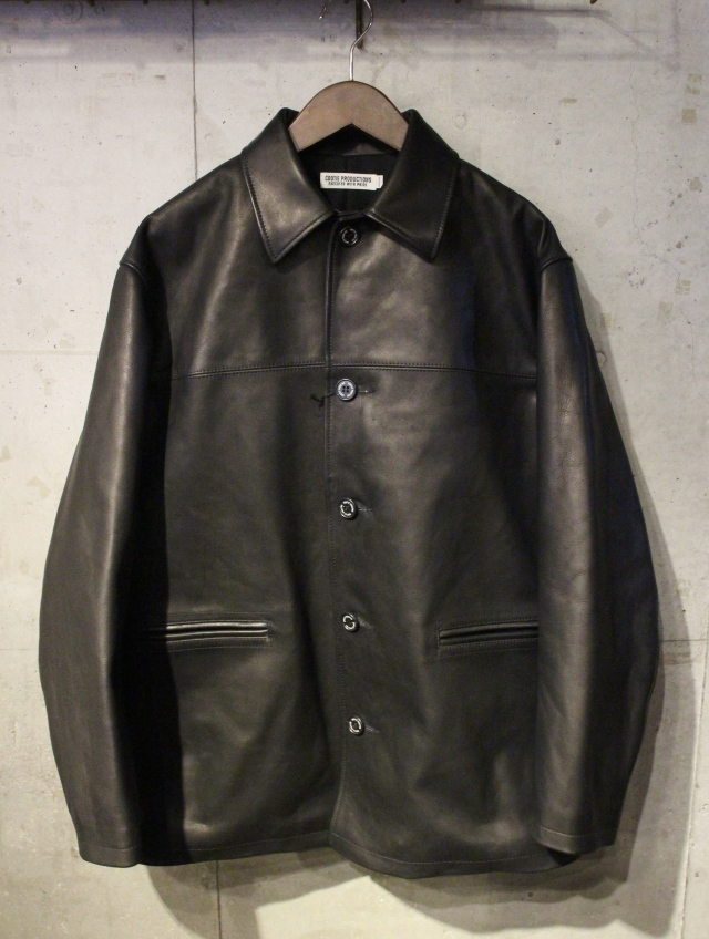COOTIE  「Leather Car Coat」 レザーカーコート