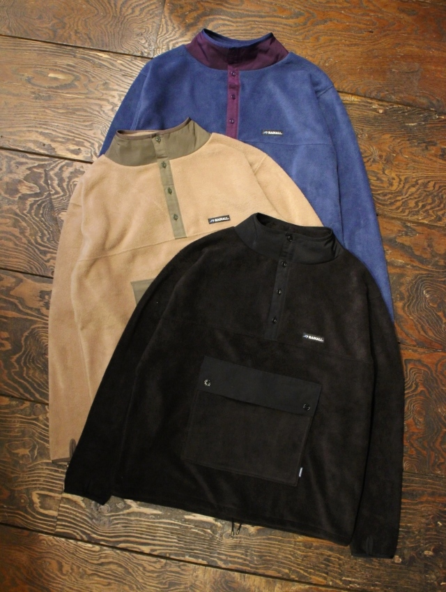 RADIALL  「OWEN - PULLOVER SHIRT L/S」  スタンドカラープルオーバーシャツ