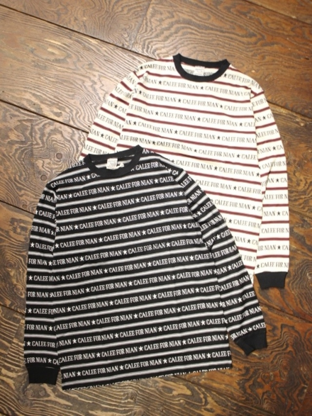 【Limited Item !!】 CALEE   「LIMITED L/S JACQUARD LOGO BORDER T-SHIRT」   ジャガードボーダーロンティー