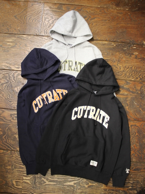 CUT RATE  「COLLEGE SWEAT PARKA」 プルオーバーパーカー